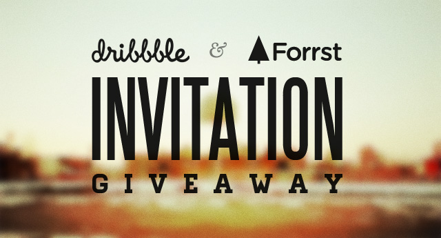 Dribbble And Forrst Invitation Giveaway