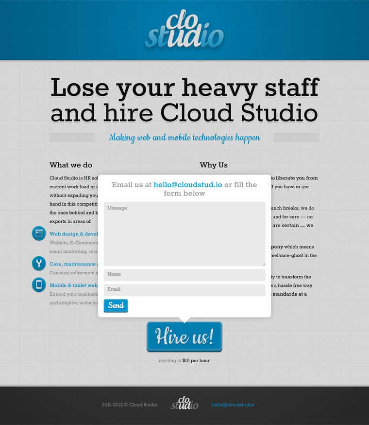 Cloud Studio website