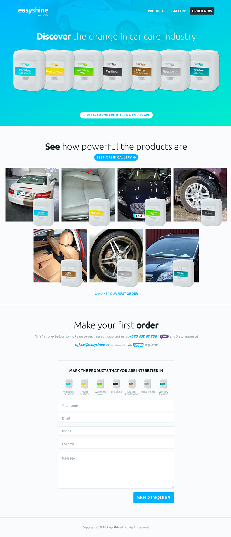 Easy Shine website