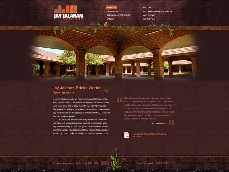 Jay Jalaram Bricks website